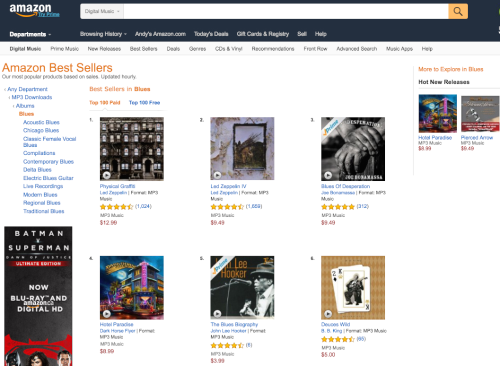 Screen Shot Amazon Best Sellers